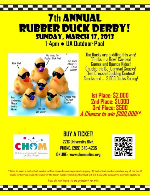 Children's Hands on Museum of Tuscaloosa Rubber Duck Derby 2013