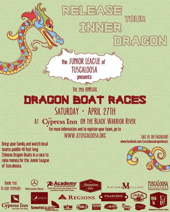 Junior League of Tuscaloosa Dragon Boat Races 2013