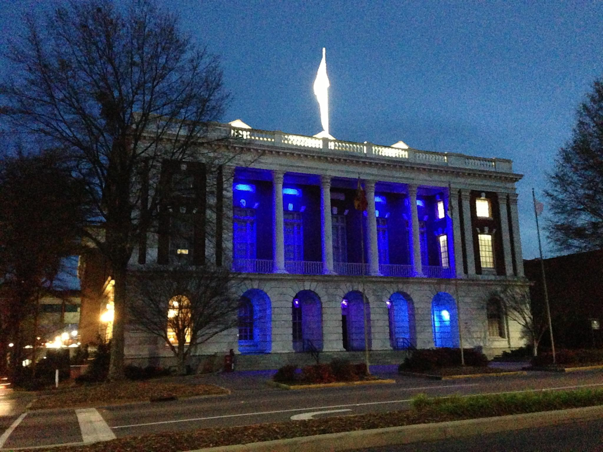 Tuscaloosa Light it Up Blue Autism Awareness